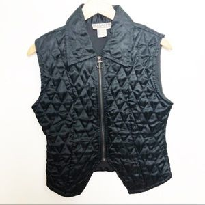 Magazine black vintage winter vest Medium